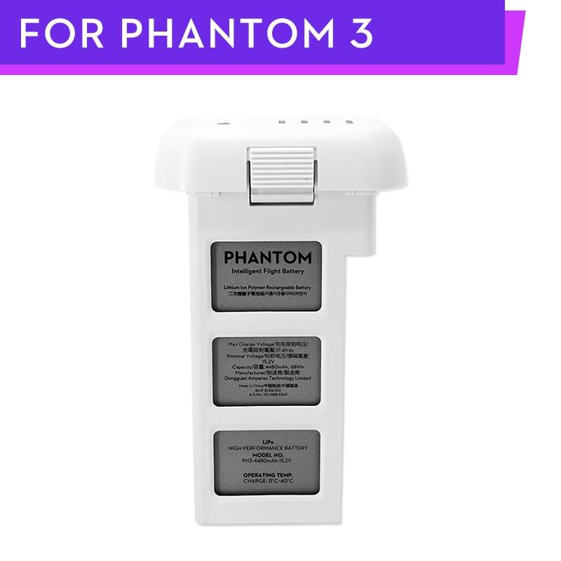 DJI Phantom 3 Professional Advanced Drone Intelligent Battery 4480mAh 15.2V LiPo4s High Capacity DJI P3 Battery Free Shiping