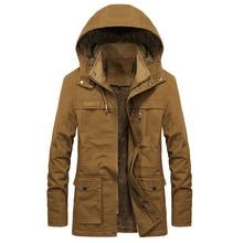 Helisopus Trench Coats Men Casual Windbreaker Long Jackets Multi-pocket Hooded W