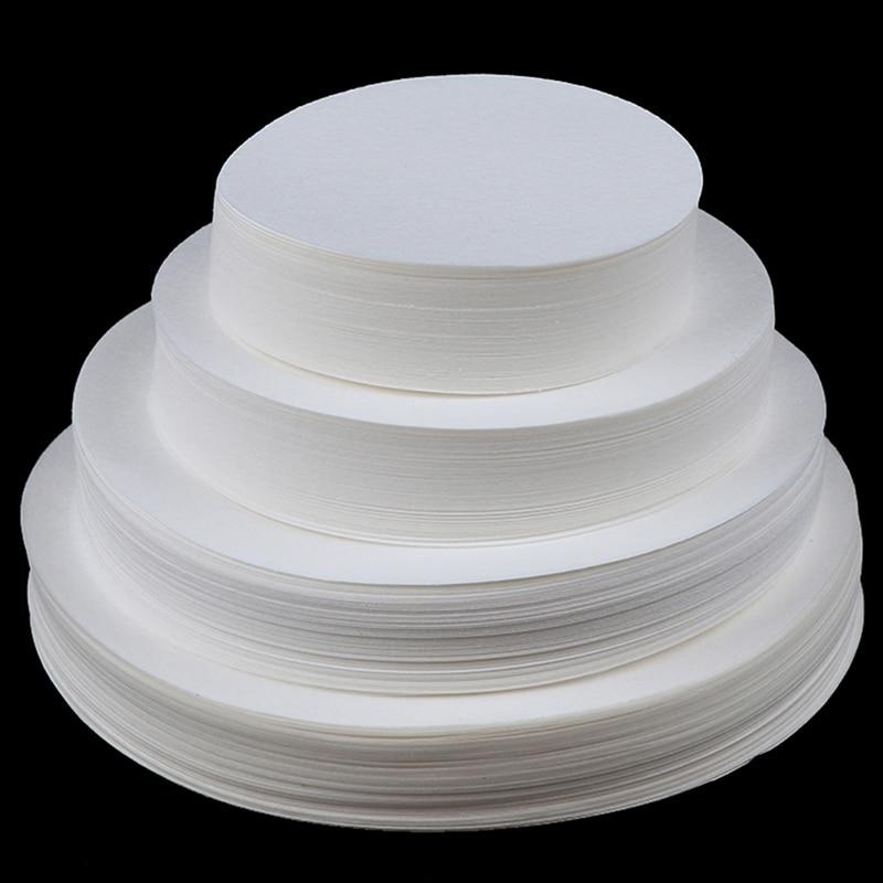 100PCS 7/9/11/12.5cm Laboratory filter paper Circular Qualitative filter paper medium speed Funnel filter paper
