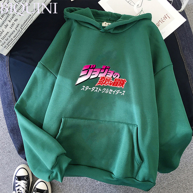 JoJo's Bizarre Adventure Hoodies Sweatshirts Men Women Harajuku Hoodies Anime Fashion Hoodie Japanese Streetwear Cartoon Hoodies 4