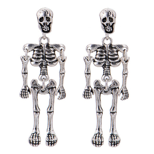 Fashion Creativity Skeleton Dangle Earrings 2020 New Design Vintage Punk Skull Robot Earring For Women Men Halloween Jewelry(China)