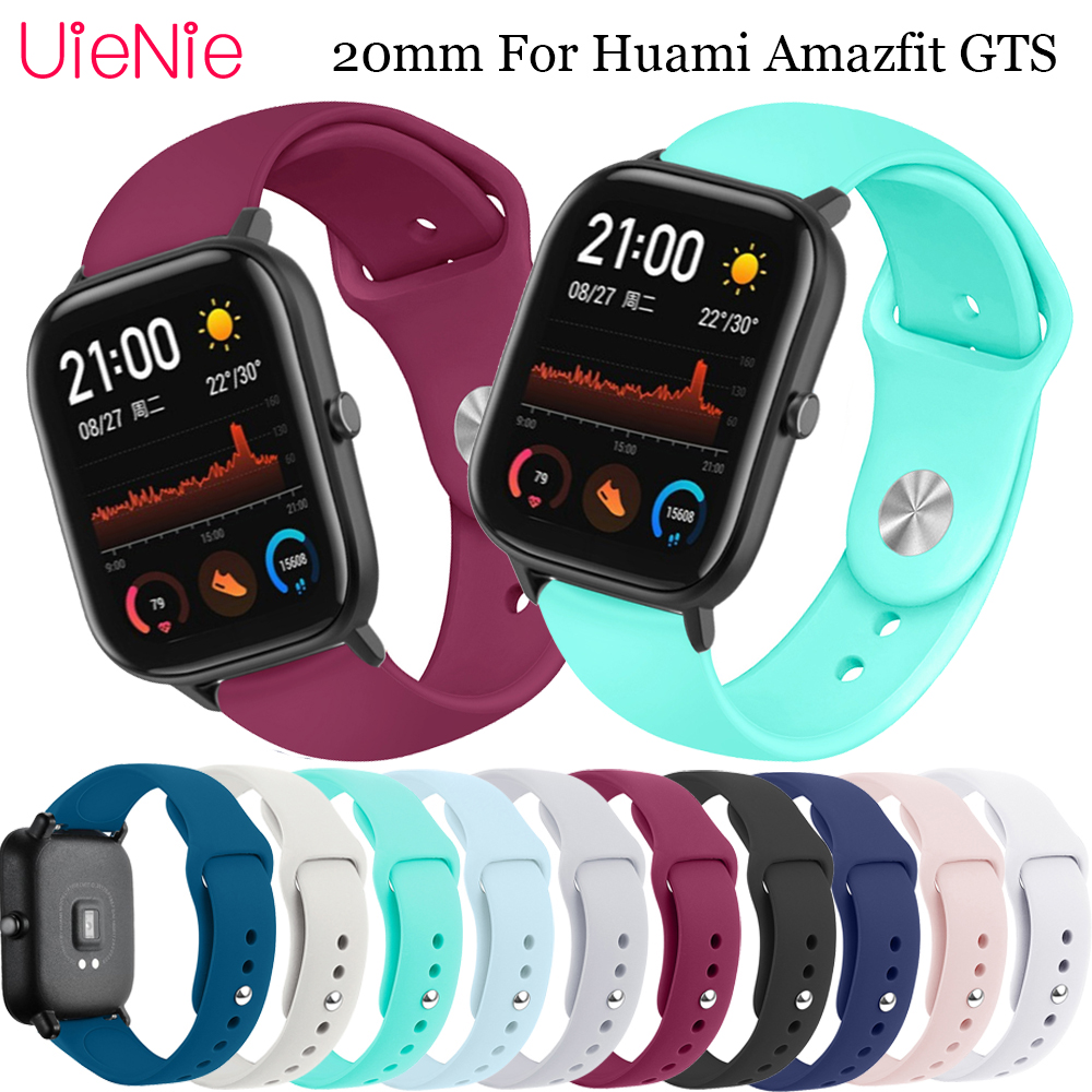 <font><b>20mm</b></font> silicone replace <font><b>strap</b></font> For Samsung Galaxy <font><b>Watch</b></font> Active bracelet For Huami Amazfit <font><b>GTS</b></font> wristband accessories watchband image