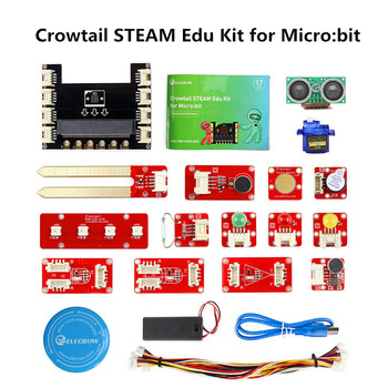 Elecrow Crowtail Steam Educational Starter Kit for Micro:bit Learning Programming Kit Microbit Makecode Projects with 9G Servo
