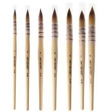 Pinceau aquarelle d'artiste de cheveux d'écureuil fait main pour des fournitures d'art d'aquarelle