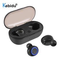 Kebidu TWS بلوتوث 5.0 سماعة باس سماعة مع مايكروفون صحيح لاسلكي صغير سماعات الهاتف المحمول ل شاومي airdot آيفون