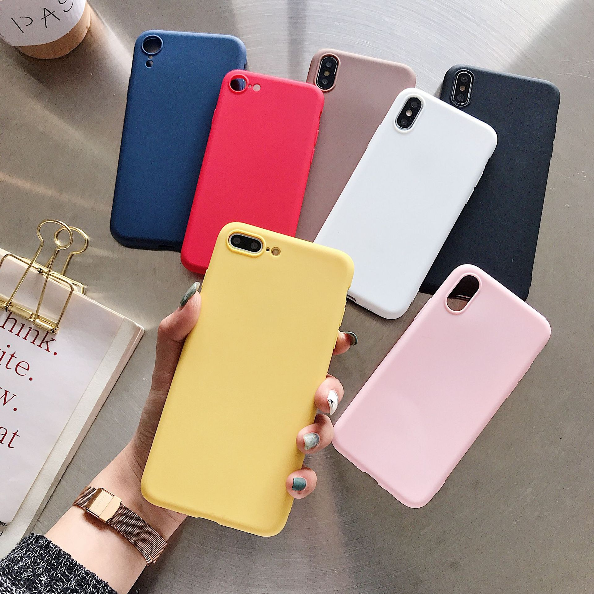 Fashion Matte <font><b>Silicon</b></font> Case For <font><b>Xiaomi</b></font> <font><b>Mi</b></font> 9 SE 8 Lite <font><b>A2</b></font> A1 <font><b>Capa</b></font> For Redmi 6 Pro 6A 5 Plus 5A 4X 4A Cute Candy Color Rubber Cover image