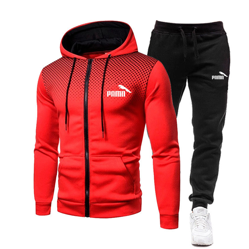 Sweatpants and Hooded Sweatshirt Men's Hooded Sweatshirt + Pants Pullover Hooded Sweatshirt Suit Men's Casual Wear 2 pieces