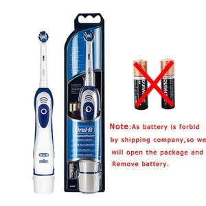 Image 5 - Oral b sonic escova de dentes elétrica db4010 bateria oprated rotativa escova de dentes elétrica precisão limpa cabeça da escova adulto