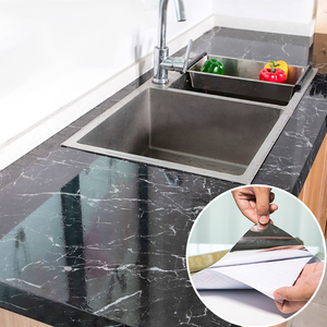 Modern Kitchen Stickers Waterproof Oilproof Classic Marble Pattern Wall Stickers Protect Desktop One Piece Self-adhesive New