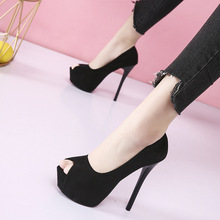 Sexy pumps women shoes 2020 high heel peep toe platform high heels wedding shoes woman Suede black ladies heels shoes byqdy wholesale girls spring sexy high heels women platform shoes peep toe pumps autumn wedding shoes women crystal pumps party