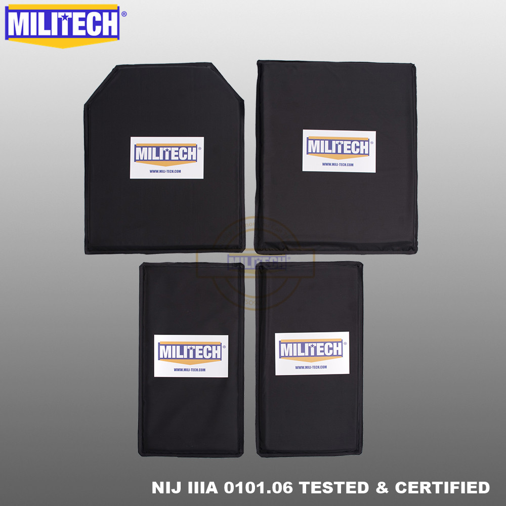 MILITECH 10 X 12 STC&SC And 6 X 12 Pairs Aramid Ballistic Panel Bullet Proof Plate Soft Cummerbund Side Armour NIJ Lvl IIIA 3A