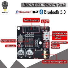 WAVGAT Bluetooth Audio Receiver board Bluetooth 5.0 mp3 lossless decoder board Wireless Stereo Music Module(China)