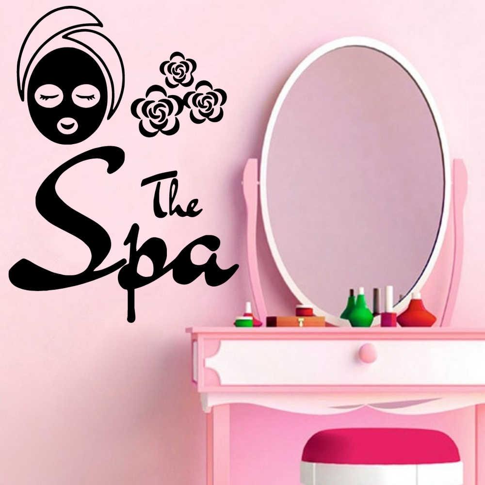 Creatieve Spa Salon Zelfklevend Vinyl Muurtattoo Voor Schoonheidssalon Kamers Muurstickers Muurschildering Meisje Salon Decals Behang