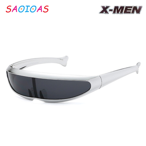 SAOIOAS Funny Alien Sunglasses Men X-Men Personality Laser Glasses Robots Sun Glasses Men's Driving Brand Design Vintage Goggles(China)