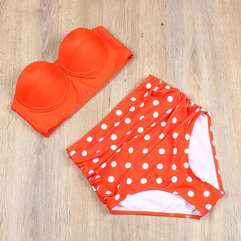 Para praia biquíni de cintura alta, feminino, plus size, push up, tanga de tamanho grande, moda praia, sensual traje de terno