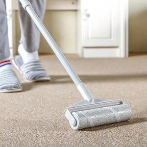 Rodillo retráctil de mango largo, limpiador de polvo, Manual, reutilizable, para el suelo, pegajoso, mopa para polvo, mopa para ropa, alfombra, herramienta removedora de pelo