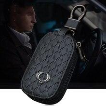עור רכב מפתח מקרה עבור סאנגיונג Actyon SUV Kyron Rexton מתקפל מרחוק מפתח Shell מקרה עם לוגו רכב מפתח כיסוי keychain