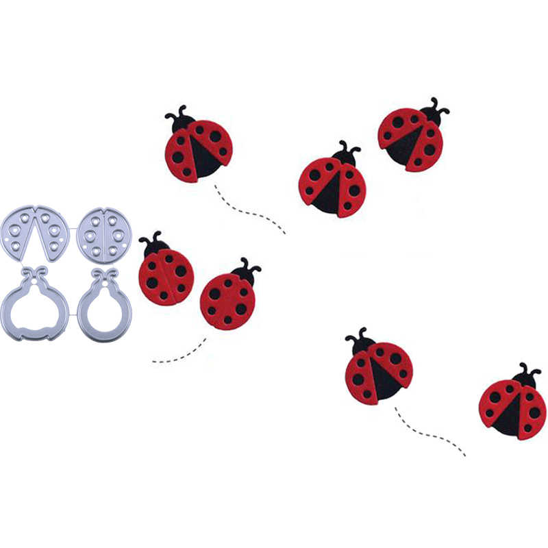 Scrapbooking DIY Crafts Rubber Stamps Ladybug Beetle Dots Design Bug Insect Card Stamp for Teaching Card Making
