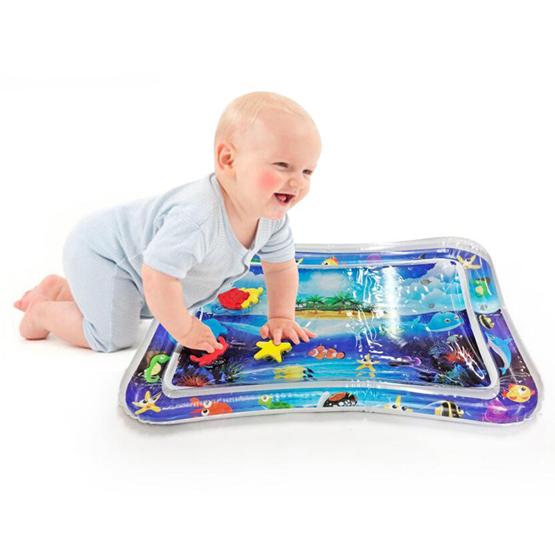 Inflatable Tummy Time Premium Water Mat Infants And Toddlers Is The Perfect Fun Time Play Activity Center Baby's Water Game Pad