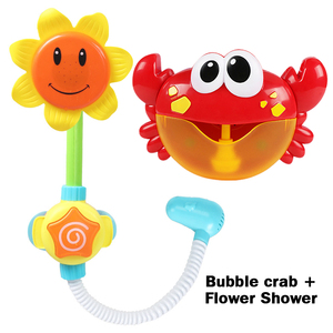 Image 5 - Outdoor Bubble Frog&Crabs Baby Bath Toy Bubble Maker Swimming Bathtub Soap Machine Toys for Children With Music Water Toy