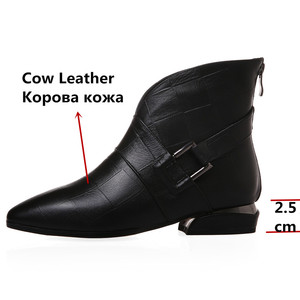 Image 3 - FEDONAS Female Elegant Short Boots Quality Genuine Leather Women Ankle Boots Party Dancing Shoes Woman Big Size Chelsea Boots