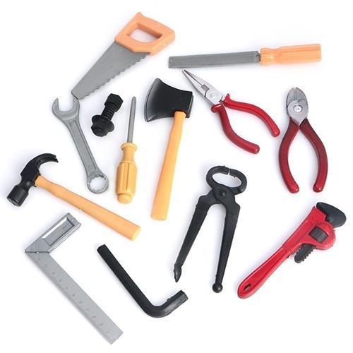 1 Set New Plastic Building Tool Kits Set Kids DIY Construction Educational Toys