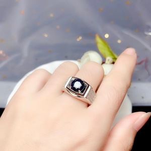 Image 5 - KJJEAXCMY boutique jewelry 925 sterling silver inlaid Natural sapphire gemstone ring men support detection noble