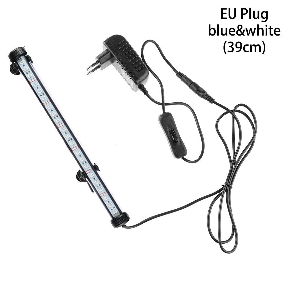 Горячие 19/29/39/49 см светодиодный аквариум светильник сине-белые rgb-пульт дистанционного Управление подводный Водонепроницаемый погружной лампа бар воздушный пузырь светильник - Цвет: EU Plug3