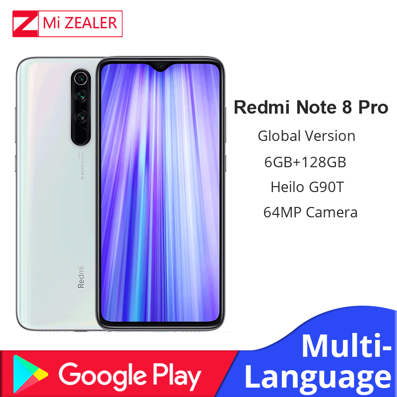 Global Version  Xiaomi Redmi Note 8 Pro 6GB RAM 128GB ROM MTK Helio G90T 6.53