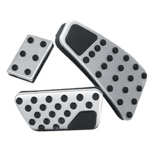 1 Set Of Clutch Gas Accelerator Brake Pedal Pad Cover For Dodge Ram 1500-5500