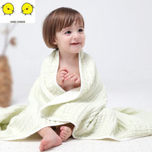 Pure Cotton Muslin 100% Cotton Baby Swaddles Soft Newborn Blankets Bath Baby Month Blanket Baby Swaddle(China)