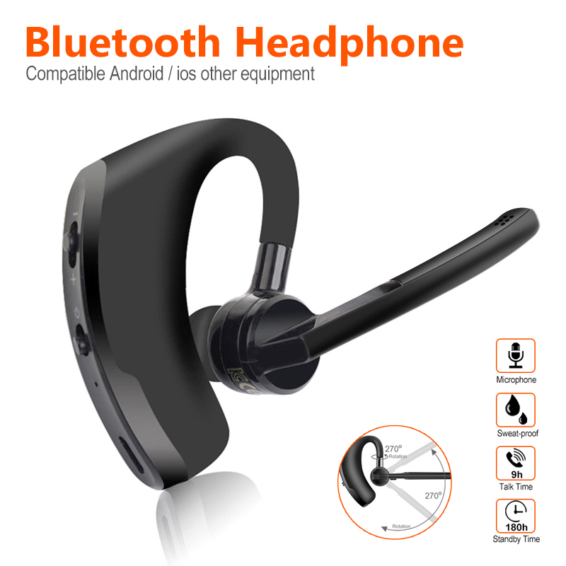 Wireless <font><b>Bluetooth</b></font> Headset Business Headphones with Mic Handsfree <font><b>Bluetooth</b></font> <font><b>Earphone</b></font> for Driving Car for iPhone Samsung Huawei image