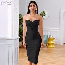 Adyce 여름 흰 붕대 드레스 여성 Vestidos 2020 섹시한 민소매 Strapless 클럽 복장 유명 인사 저녁 활주로 파티 드레스