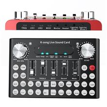 F9 Live Broadcast 18 Sound Effects Stereo Audio Sound Card with Intelligent Voice-activated LED Lights for Phone Laptop Computer