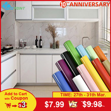 Parel Wit Diy Decoratieve Film Pvc Zelfklevende Behang Meubels Vernieuwing Stickers Keukenkast Waterdicht Behang(China)