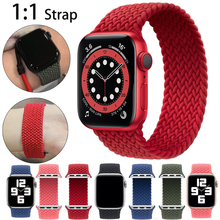 Nylon Original Solo Braid Loop bands For Apple Watch Band 6 5 3 44mm 40mm 38mm 42mm Elastic Strap Bracelet for iWatch Series 6 5