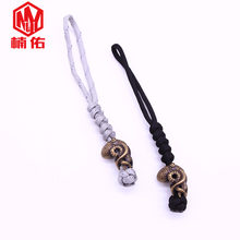 1PC EDC Hand-woven Paracord Beads Octopus Retro Brass Copper Oxide Umbrella Rope Cord Lanyard Pendants Knife Beads Accessories(China)
