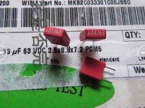 Image 2 - 20PCS Original RED WIMA MKS2 330NF 63V P5MM 0.33UF 334/63V Audio 334 new mks 2 0.33U 330N/63V pcm5