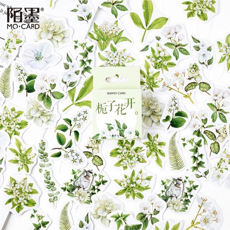 Gardenia Blossom Series Bullet Journal Decorative Stationery Mini Flower Stickers Set Scrapbooking DIY Diary Album Stick Lable