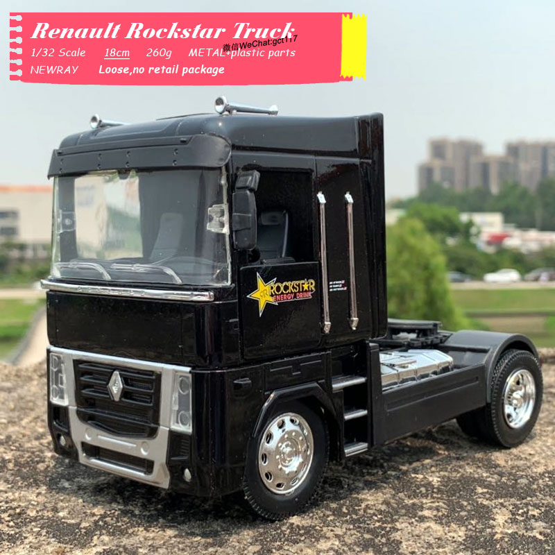 Newray 1/32 Scale Truck Model Toys Renault AE500  Magnum Truck 18cm Length Diecast Metal Car Model Toy For Collection,Gift,Kids