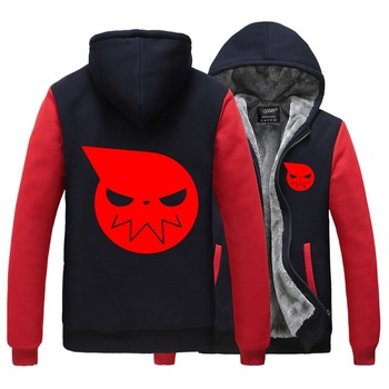 Unisex Anime Cos Soul Eater MAKA ALBARN Coat hoodie feece jacket Cardigan Soul Eater Black Star thick mens hoodie jacket фото