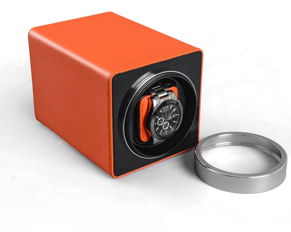 LISM  Auto Silent Watch Winder Irregular Shape Transparent Cover Wrist Watch Box With EU/US/UK Plug Luxury Box Automatic Watch