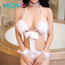 IKOKY Uniform Sexy Cosplay Costumes Exotic Apparel Bunny Flirt Clothes Women's S