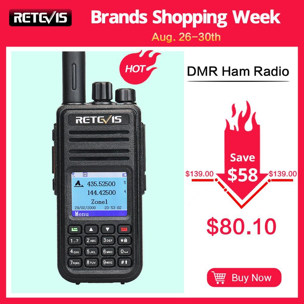 RETEVIS RT3S DMR Digital Radio Walkie Talkie (GPS) 5W VHF UHF Dual Band DMR Radio Transceiver Ham Radio Amador+Program Cable