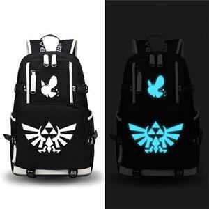 Legenda Zelda drukowanie szkolne torby Zelda plecak podróżny plecak Mochila Feminina płócienny plecak na laptopa duża Bookbag
