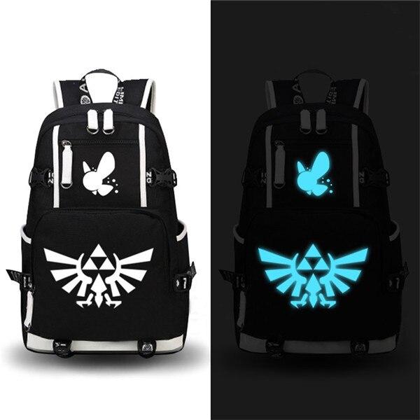The Legend of Zelda Printing School Bags Zelda Backpack Travel Backpack Mochila Feminina Canvas Laptop Backpack Large Bookbag