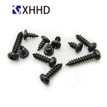 M2 M2.3 M2.6 M3 M4 Steel Iron Phillips Cross Recessed Self Tapping Screw Metric Thread Round Head Bolt Black m2 m2 5 m3 m4 phillips cross recessed pan head machine screw iron metric thread round head bolt black steel