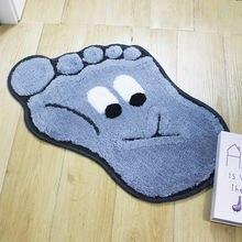 Детский мультяшный коврик для унитаза Впитывающий Коврик ворсовый