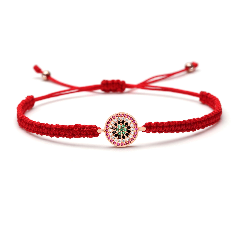 Braccialetto rosso di fortuna in braccialetti Macrame Filato di Macrame Bracciale Macrame Good Luck