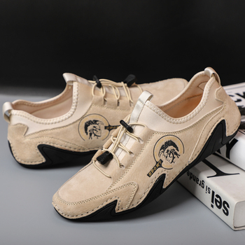2020 New Driving Shoes Men Big Size 38-46 Men's Casual Shoes Comfy Elastic Shoelaces Rubber Soft Soles Waking Moccasins Shoes waking beauty